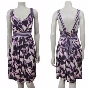 BCBGMAXAZRIA Purple Combo Printed Sleeveless Dress